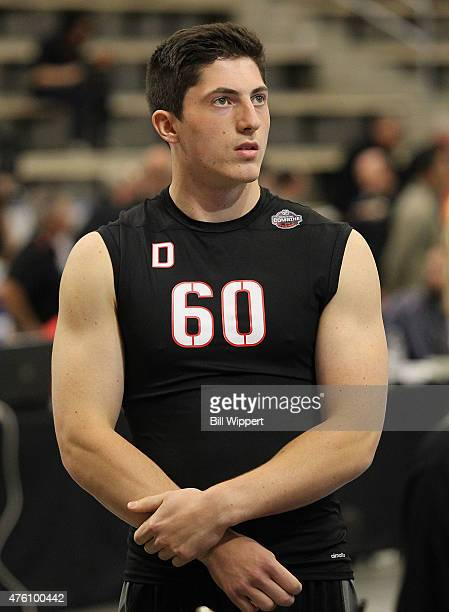 Zachary Werenski waits to performs a test during the NHL Combine at HarborCenter on June 6 2015 in Buffalo New York