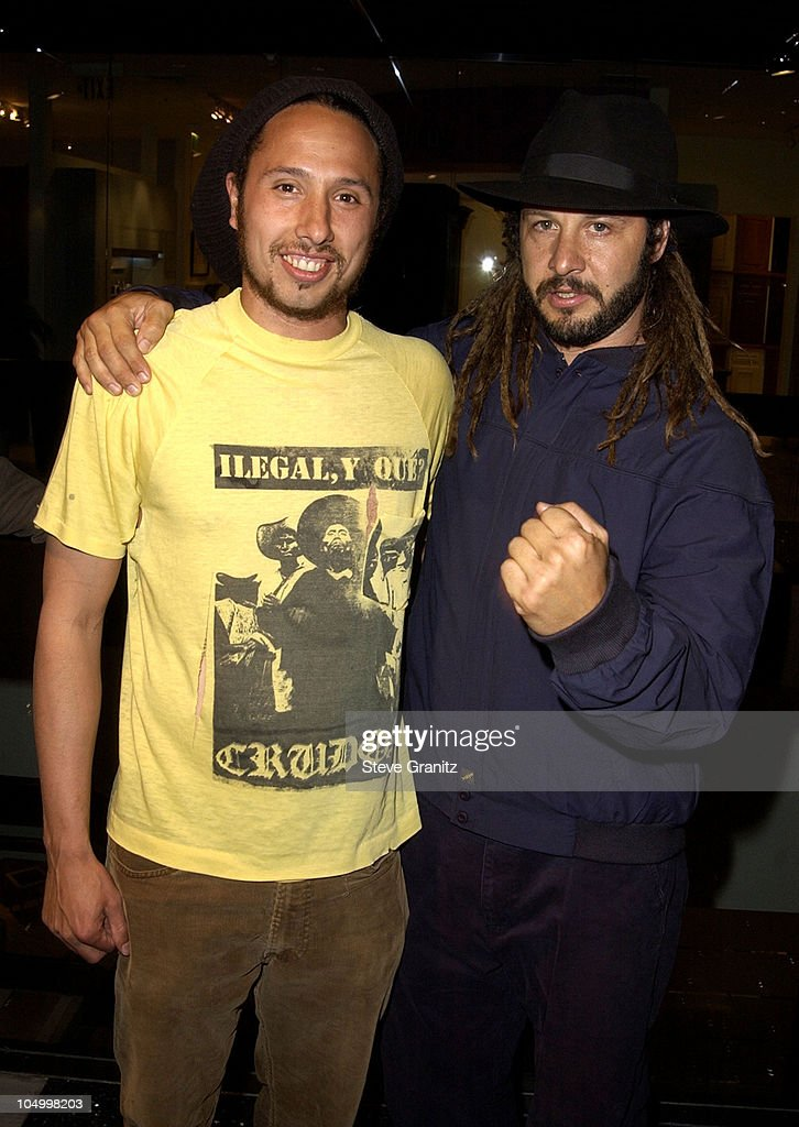 Zack de la Rocha and Tony Alva during 'Dogtown and Z-Boys' Premiere at Silverscreen Theater in West Hollywood, California, United States.