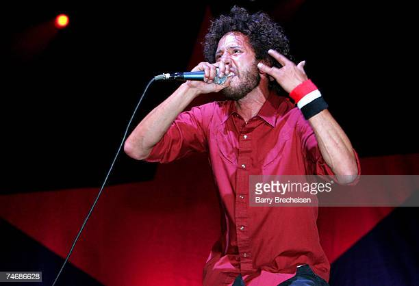 Zack de la Rocha of Rage Against the Machine at the Empire Polo Field in Indio California