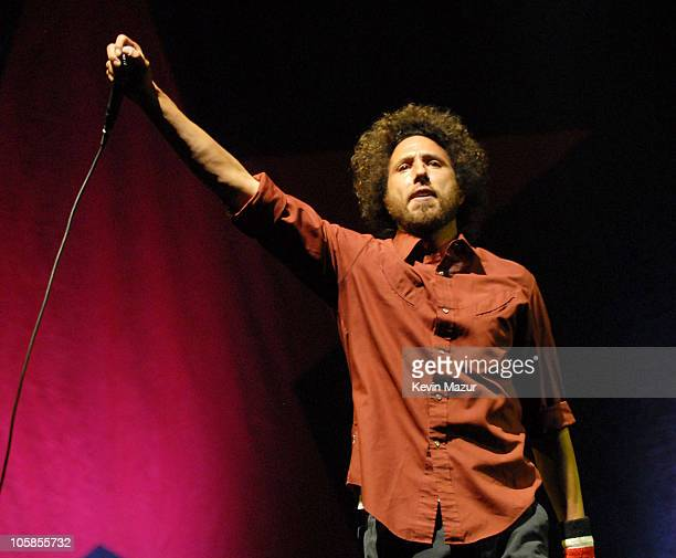 Zack de la Rocha of Rage Against the Machine during 2007 Coachella Valley Music and Arts Festival Day 3 at Empire Polo Field in Indio California...