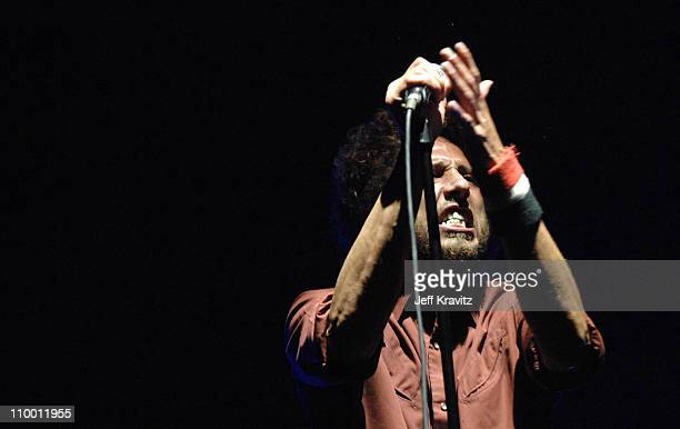 Zack de la Rocha of Rage Against the Machine during Coachella Valley Music and Arts Festival Day 3 Rage Against The Machine at Empire Polo Field in...