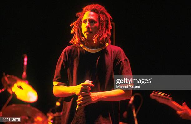 Zack de la Rocha of Rage Against The Machine performs on stage circa 1992
