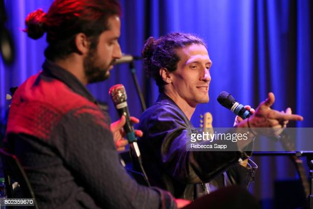 Zack Feinberg and David Shaw of The Revivalists speak onstage at Spotlight The Revivalists at The GRAMMY Museum on June 27 2017 in Los Angeles...
