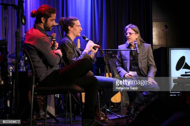 Zack Feinberg and David Shaw of The Revivalists speak with GRAMMY Museum Executive Director Scott Goldman at Spotlight The Revivalists at The GRAMMY...