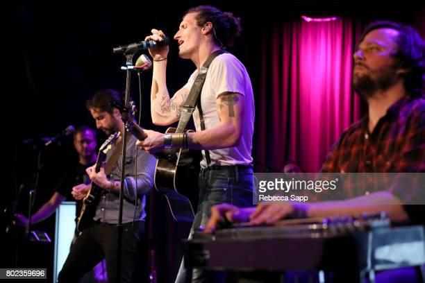 Zack Feinberg David Shaw and Ed Williams of The Revivalists perform at Spotlight The Revivalists at The GRAMMY Museum on June 27 2017 in Los Angeles...