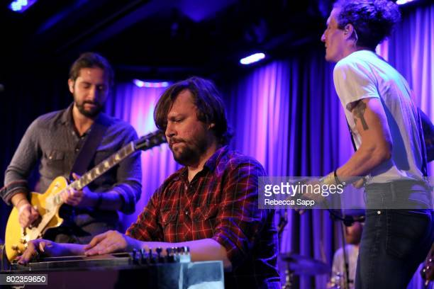 Zack Feinberg Ed Williams and David Shaw of The Revivalists perform at Spotlight The Revivalists at The GRAMMY Museum on June 27 2017 in Los Angeles...