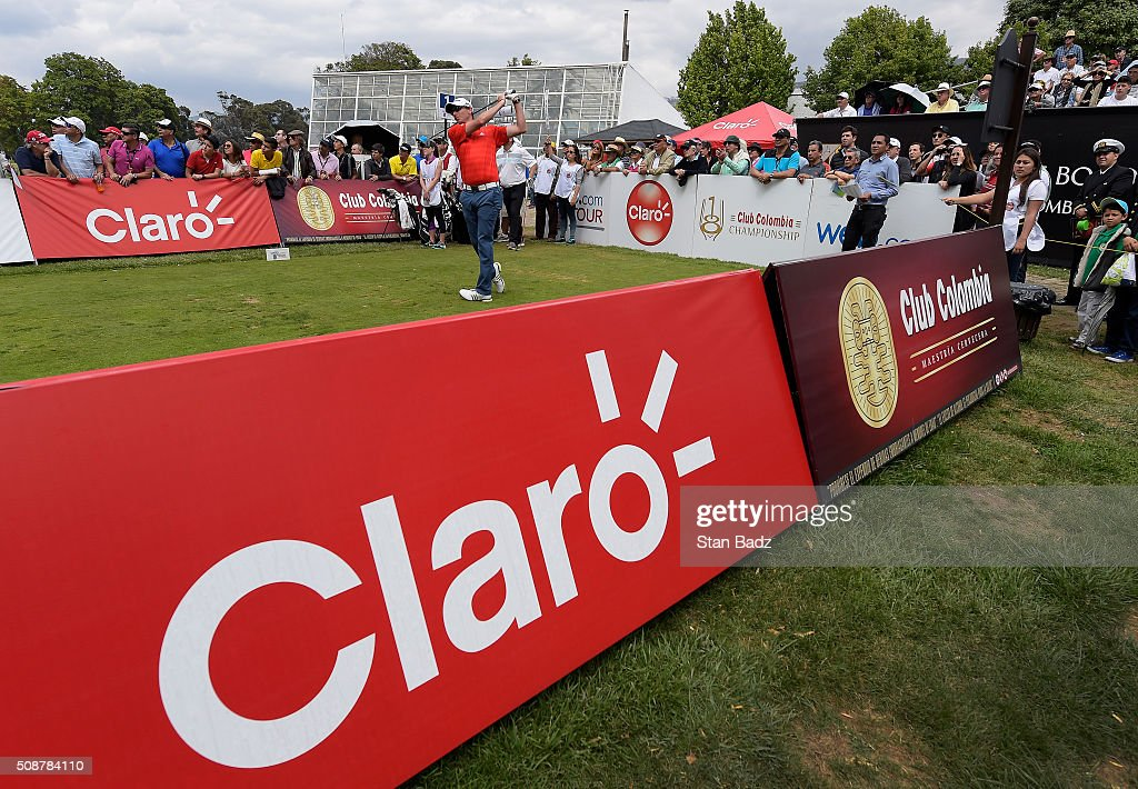 <a gi-track='captionPersonalityLinkClicked' href=/galleries/search?phrase=Zack+Fischer&family=editorial&specificpeople=10845913 ng-click='$event.stopPropagation()'>Zack Fischer</a> hits a drive on the first hole during the third round of the Web.com Tour Club Colombia Championship Presented by Claro at Bogotá Country Club on February 6, 2016 in Bogotá, Colombia.