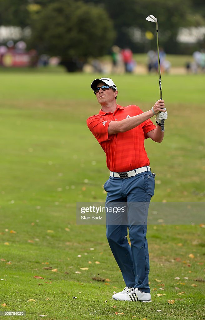 <a gi-track='captionPersonalityLinkClicked' href=/galleries/search?phrase=Zack+Fischer&family=editorial&specificpeople=10845913 ng-click='$event.stopPropagation()'>Zack Fischer</a> plays a shot from the fourth fairway during the third round of the Web.com Tour Club Colombia Championship Presented by Claro at Bogotá Country Club on February 6, 2016 in Bogotá, Colombia.