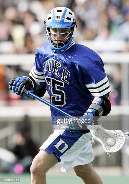 Zack Greer of Duke in action at the University of Maryland in College Park Maryland on March 5 2005 Duke won 108