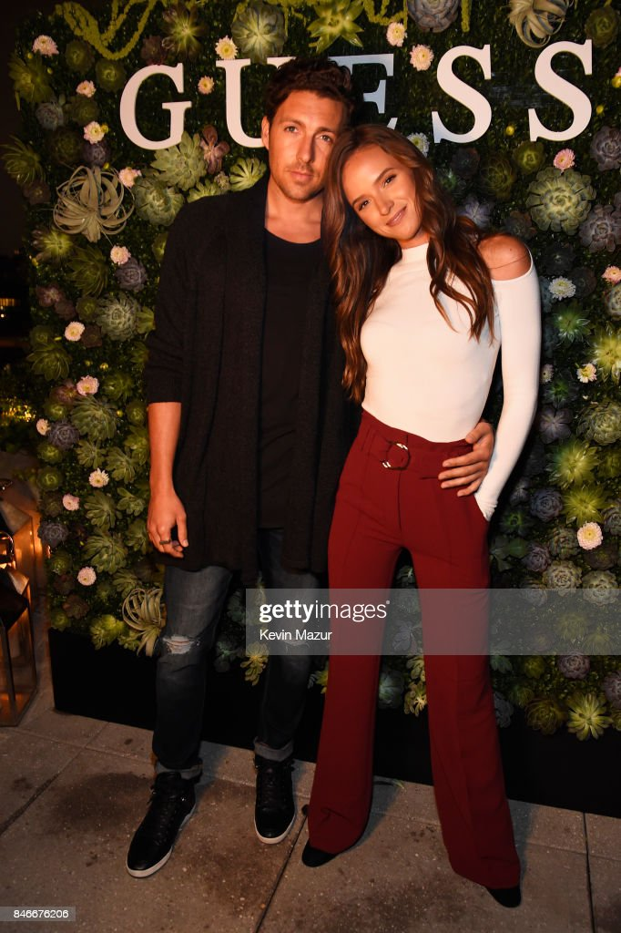 Zack Kalter and Helen Owen attend GUESS NYFW Fall Fashion Event at Public Hotel on September 13, 2017 in New York City.