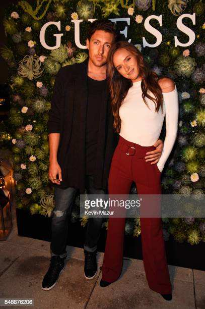 Zack Kalter and Helen Owen attend GUESS NYFW Fall Fashion Event at Public Hotel on September 13 2017 in New York City
