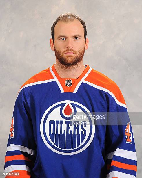 Zack Kassian of the Edmonton Oilers poses for his official headshot for the 20152016 season on February 2 2016 at the Rexall Place in Edmonton...