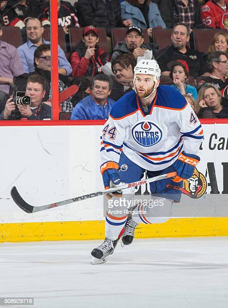 Zack Kassian of the Edmonton Oilers skates against the Ottawa Senators at Canadian Tire Centre on February 4 2016 in Ottawa Ontario Canada