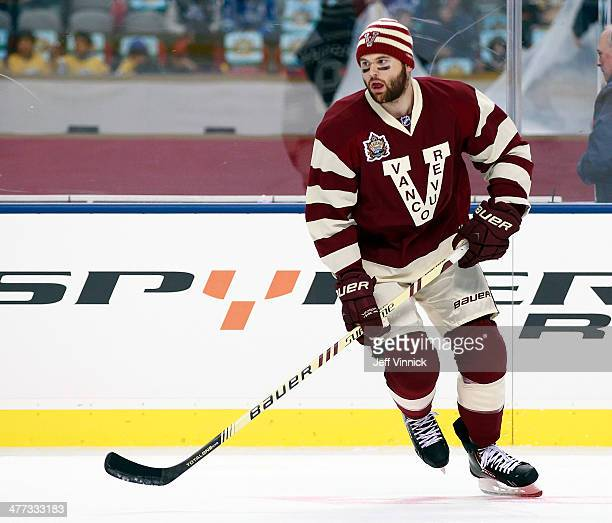Zack Kassian of the Vancouver Canucks skates up ice during the 2014 Tim Hortons NHL Heritage Classic against the Ottawa Senators at BC Place Stadium...