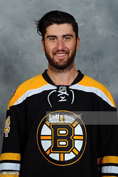 Zack Phillips of the Boston Bruins poses for his official headshot for the 20152016 season on September 18 2015 at the TD Garden in Boston...