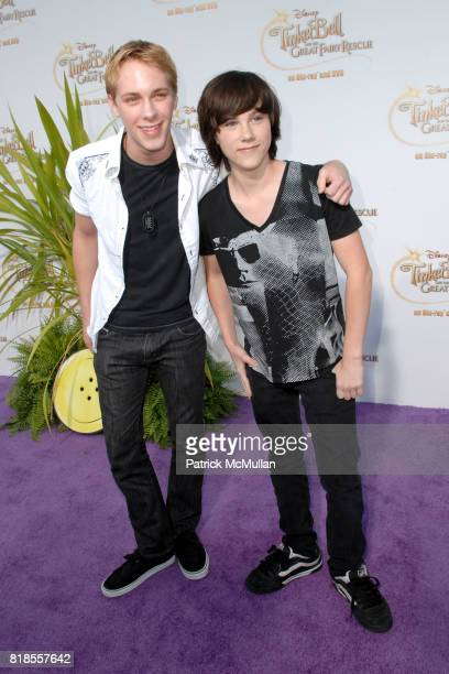 Zack Shada and Jeremy Shada attend Picnic In The Park For 'Tinker Bell And The Great Fairy Rescue' at La Cienega Park on August 28 2010 in Beverly...