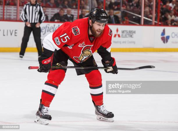 Zack Smith of the Ottawa Senators skates against the Montreal Canadiens at Canadian Tire Centre on March 18 2017 in Ottawa Ontario Canada