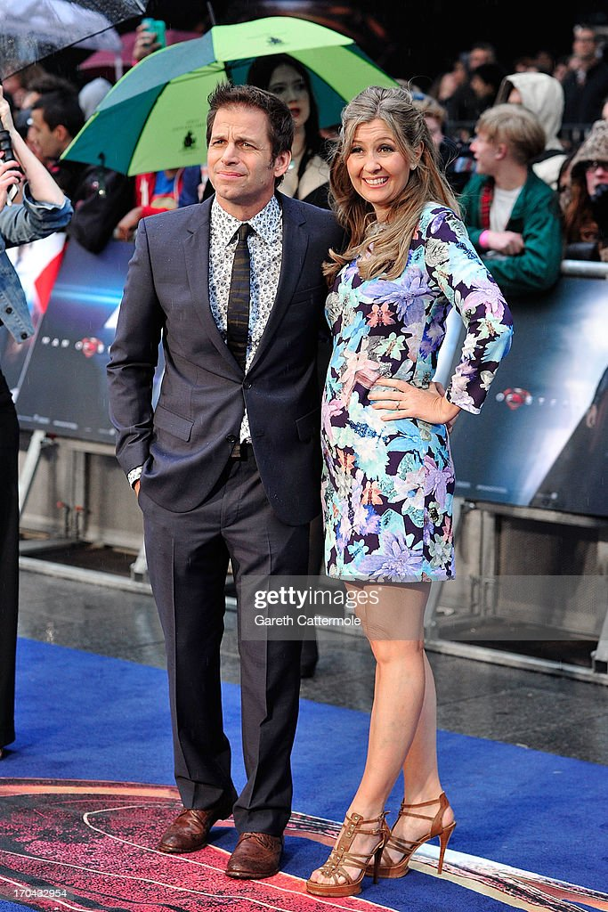 Zack Snyder & Deborah Snyder attends the UK Premiere of 'Man of Steel' at Odeon Leicester Square on June 12, 2013 in London, England.