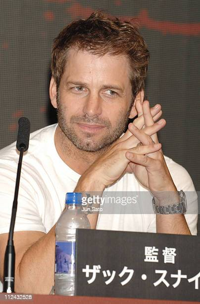 Zack Snyder during '300' Tokyo Press Conference at Mandarin Oriental Tokyo in Tokyo Japan