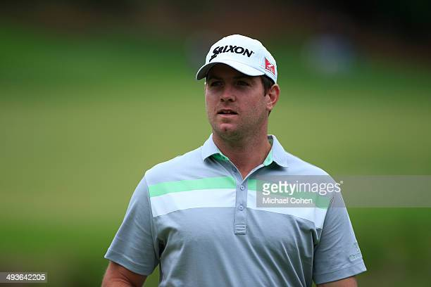 Zack Sucher looks on during the final round of the BMW Charity ProAm Presented by SYNNEX Corporation held at the Thornblade Club on May 18 2014 in...