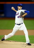 Zack Wheeler of the New York Mets pitches against the San Francisco Giants during their game at Citi Field on September 17 2013 in New York City
