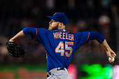 Zack Wheeler of the New York Mets pitches during game two of a doubleheader baseball game against the Washington Nationals on September 25 2014 at...