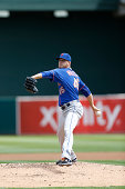 Zack Wheeler of the New York Mets pitches during the game against the Oakland Athletics at Oco Coliseum on August 20 2014 in Oakland California The...