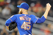 Zack Wheeler of the New York Mets pitches in the first inning during game two of a doubleheader baseball game against the Washington Nationals on...