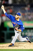 Zack Wheeler of the New York Mets pitches in the second inning during game two of a doubleheader baseball game against the Washington Nationals on...