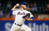 Zack Wheeler of the New York Mets pitches in the third inning against the Washington Nationals at Citi Field on September 13 2014 in the Flushing...