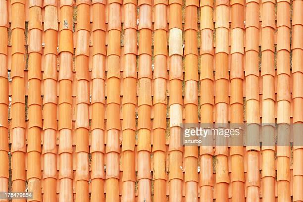 Zadar mediterranean roof tile pattern close up in Croatia