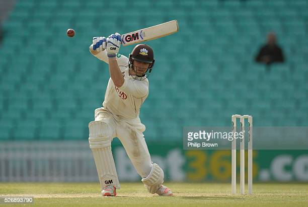 Zafar Ansari of Surrey bats during day one of the Specsavers County Championship Division One match between Surrey and Durham at the Kia Oval on May...