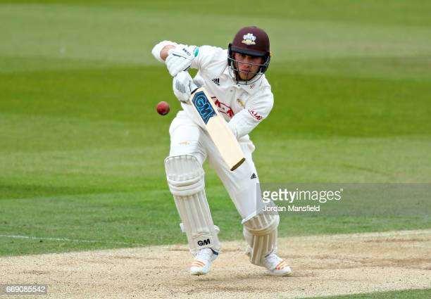 Zafar Ansari of Surrey bats during day three of the Specsavers County Championship Division One match between Surrey and Lancashire at The Kia Oval...