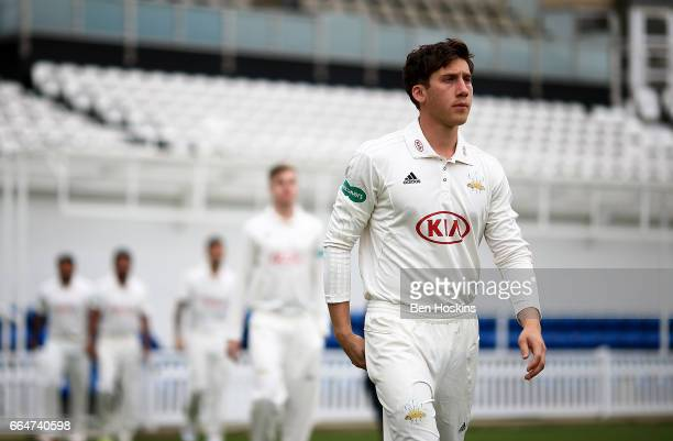 Zafar Ansari of Surrey looks on during the Surrey CCC Photocall at The Kia Oval on April 4 2017 in London England