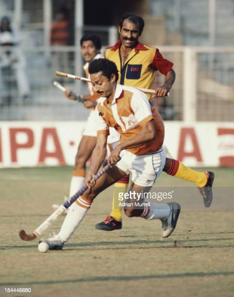 Zafar Iqbal of India and captain of the Indian national hockey team during the Nehru Hockey Tournament on 15th November 1983 at the National Hockey...
