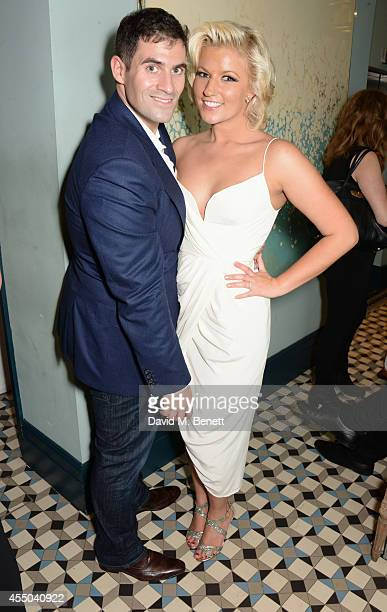 Zafar Rushdie and Natalie Coyle attend a private dinner to celebrate their engagement at Library on September 6 2014 in London England