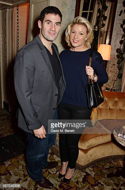 Zafar Rushdie and Natalie Coyle attend the book launch party for 'How Google Works' by Eric Schmidt and Jonathan Rosenberg hosted by Jamie Reuben at...