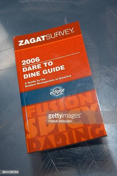 Zagat and Atmosphere attend ECLIPSE and ZAGAT SURVEY 2006 'Dare to Dine Guide' Launch Party at Morimoto on August 15 2006 in New York City