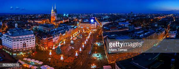 Zagreb advent panorama