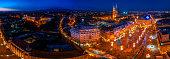 Zagreb advent panorama