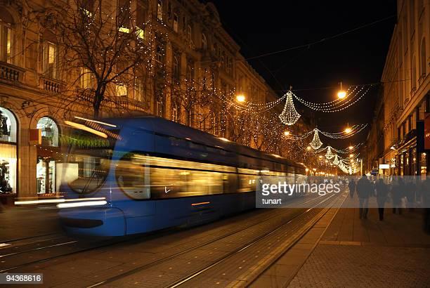 Zagreb Straßen in Christmas