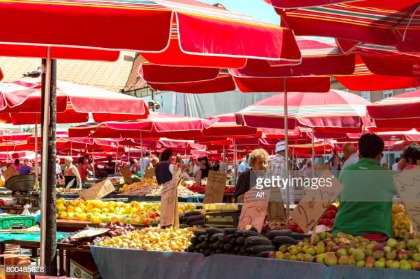 Zagreb's Dolac market, Croatia