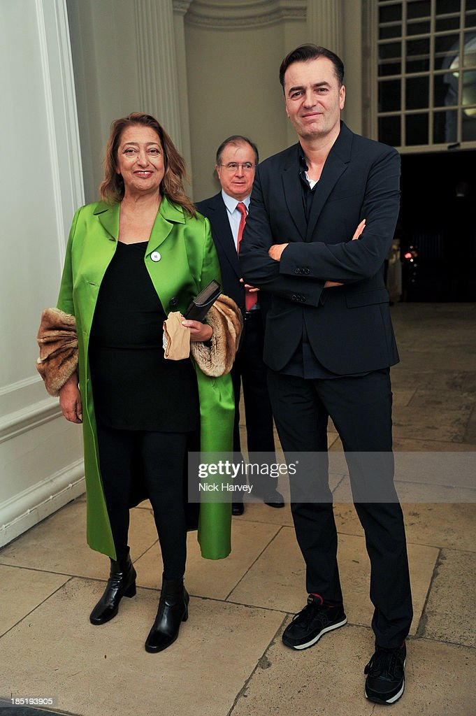 <a gi-track='captionPersonalityLinkClicked' href=/galleries/search?phrase=Zaha+Hadid&family=editorial&specificpeople=560782 ng-click='$event.stopPropagation()'>Zaha Hadid</a> and Patrik Schumacher attend the book launch party for 'The Queen Of Four Kingdoms' by Princess Michael of Kent at The Orangery on October 17, 2013 in London, England.