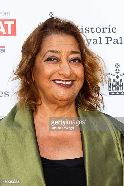 Zaha Hadid attends the Kensington Palace Summer Gala at Kensington Palace on July 9 2015 in London England