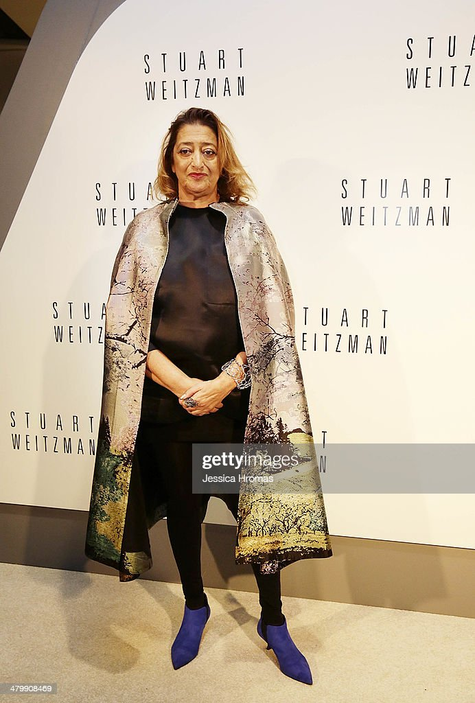 <a gi-track='captionPersonalityLinkClicked' href=/galleries/search?phrase=Zaha+Hadid&family=editorial&specificpeople=560782 ng-click='$event.stopPropagation()'>Zaha Hadid</a> attends the opening of the Stuart Weitzman Boutique which she designed, in the IFC Mall, Central, Hong Kong, on March 21, 2014.