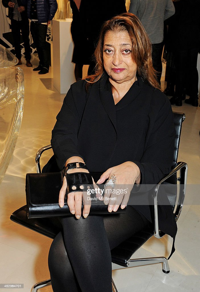 <a gi-track='captionPersonalityLinkClicked' href=/galleries/search?phrase=Zaha+Hadid&family=editorial&specificpeople=560782 ng-click='$event.stopPropagation()'>Zaha Hadid</a> attends the <a gi-track='captionPersonalityLinkClicked' href=/galleries/search?phrase=Zaha+Hadid&family=editorial&specificpeople=560782 ng-click='$event.stopPropagation()'>Zaha Hadid</a> for Caspita pop-up store launch event on November 28, 2013 in London, England.