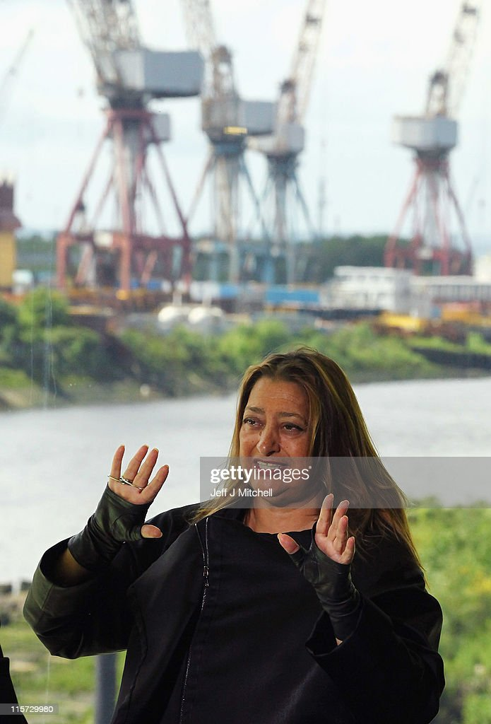 <a gi-track='captionPersonalityLinkClicked' href=/galleries/search?phrase=Zaha+Hadid&family=editorial&specificpeople=560782 ng-click='$event.stopPropagation()'>Zaha Hadid</a>, the architect of the new Riverside Museum attends a press conference before the opening of the musuem, her first major work in the United Kingdom on June 9, 2011 in Glasgow, Scotland. The £74million Riverside Museum will open to the public on 21 June. The museum has been funded by Glasgow City Council, the Heritage Lottery Fund and the Riverside Museum Appeal.