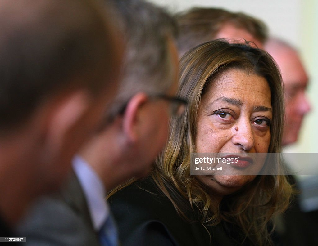Zaha Hadid, the architect of the new Riverside Museum attends a press conference before the opening of the musuem, her first major work in the United Kingdom on June 9, 2011 in Glasgow, Scotland. The £74million Riverside Museum will open to the public on 21 June. The museum has been funded by Glasgow City Council, the Heritage Lottery Fund and the Riverside Museum Appeal.