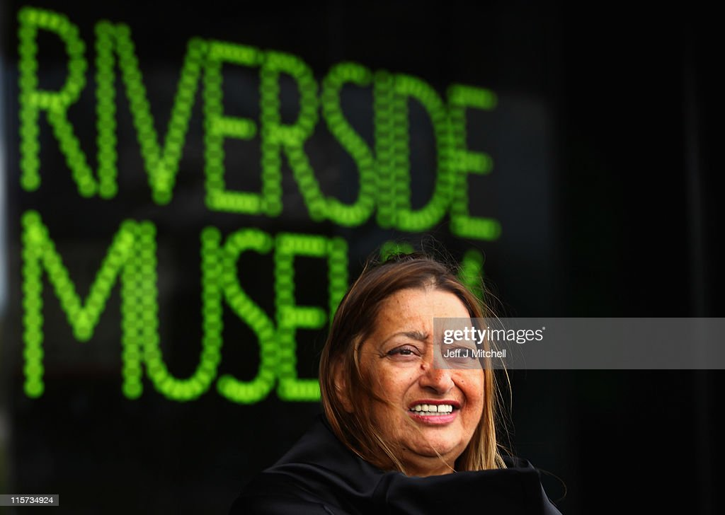 <a gi-track='captionPersonalityLinkClicked' href=/galleries/search?phrase=Zaha+Hadid&family=editorial&specificpeople=560782 ng-click='$event.stopPropagation()'>Zaha Hadid</a>, world famous architect visits the Riverside Museum, her first major public commission in the UK on June 9, 2011 in Glasgow, Scotland. The £74million Riverside Museum will open to the public on 21 June. It has been funded by Glasgow City Council, the Heritage Lottery Fund and the Riverside Museum Appeal.