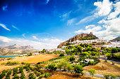 Zahara de la Sierra, beautiful town located in the Sierra de Grazalema, Cadiz (Andalusia), Spain.